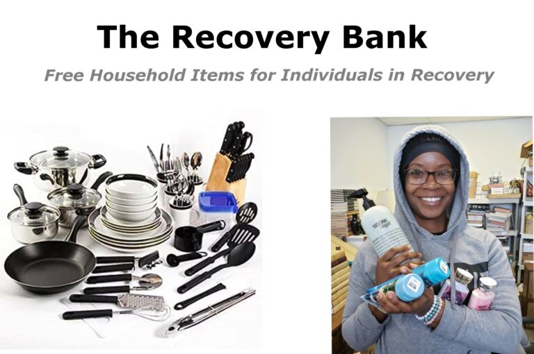 The Recovery Bank provides free household goods to individuals in recovery