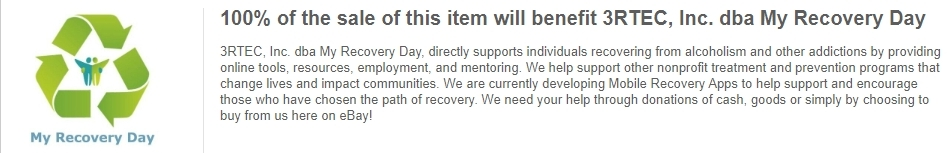 Start Shopping My Recovery Day's Charity Listings